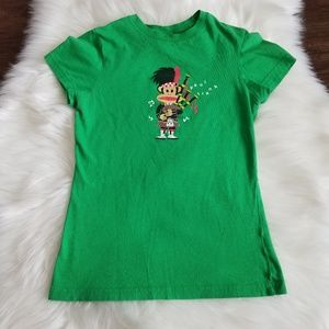 Paul Frank  green tshirt size xs